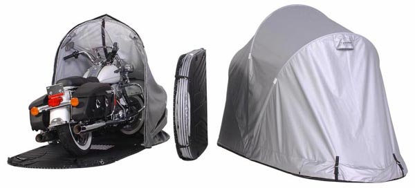Hard Covered Bike Shelters : Cycleshell enclosure outdoor motorcycle cover protection